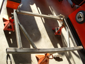 rear frame section tack welded