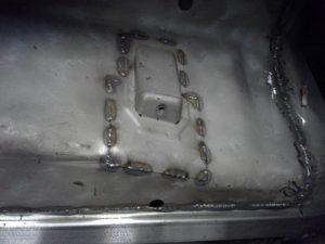 trans tunnel stitch weld